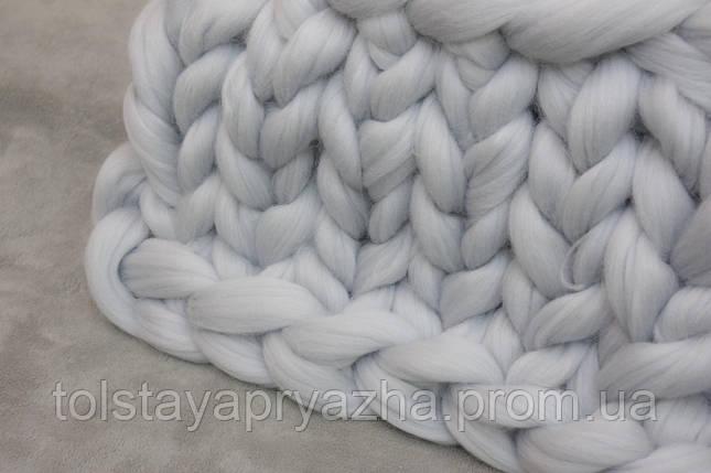 Плед з вовни (колір хмара) 0,6х1,2 м., фото 2