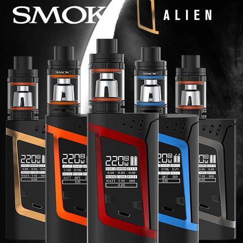 Электронная сигарета SMOK Alien Kit 220W, электронный испаритель, атомайзер, супер вейп, смок алиен
