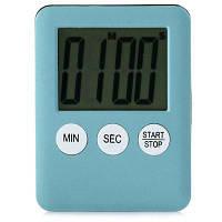 LCD цифровой кухонный таймер магнитный интервал будильник для напоминания Синий