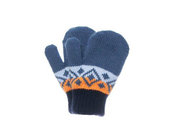 Дитячі теплі красиві в'язані рукавиці осінньо-зимові., фото 2