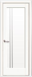 """Двери межкомнатные  ''De Luxe'' """"Делла"""" белые матовые стекло сатин матовый"""