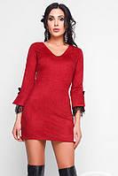 Платье замшевое Кружево рукав, (3цв), короткое замшевое платье, дропшиппинг