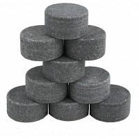 9шт Камни круглой формы для охлаждения напитков Черный Серый