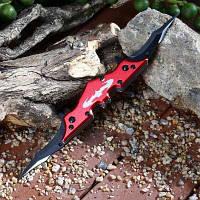 Двойное лезвие блокировка рамки складной большой карманный нож с зажимом Красный