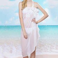 Классический шифоновый шарф чистого цвета для женщин девушки в купальниках От XS to M
