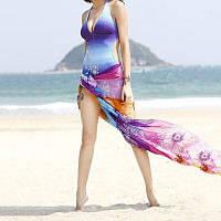 Шифоновый шарф с шаблоном фейерверка для женщин девушки в купальниках От XS to M