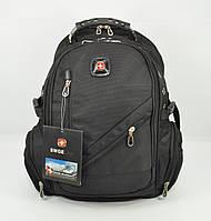 Рюкзак городской SwissGear 8815 черный, выход для USB, наушников, дождевик