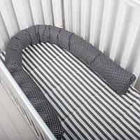 """Защита в кроватку, фиксатор, подушка для кормления и для беременных, позиционер """"Горох"""""""