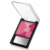 Удобная палетка румян разных оттенков с оттиском розы и зеркалом 01#