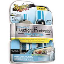 Набор для восстановления и защиты фар - Meguiar's Perfect Clarity Headlight Restoration 2-Step Kit (G2000)