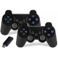 Контроллер 2шт 2.4 GHz беспроводной игры Чёрный