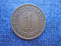 Монета 1 пфенниг Германия 1932 А