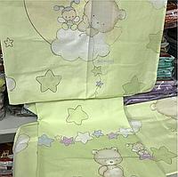 Комплект постельного белья в кроватку Мишутки(салатовые)