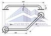 Поручень для инвалидов  пристенный угловой, Ø 32мм  - 350х350мм, фото 2