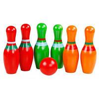 6шт QZM деревянные Кегля для боулинга для пространственного воображения Разноцветный