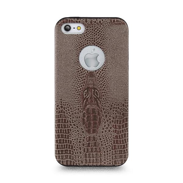 Чехол накладка для iPhone 5 Perfektum Crocodil Кожа