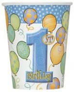 Паперові стакани з колекції «Перший день народження хлопчика» 266мл., 8шт