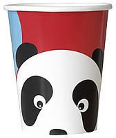 Паперові стакани з колекції «Панда» 266мл., 8шт