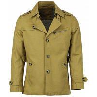 Отложной воротник погон однобортный с длинным рукавом Мужская пальто L
