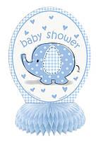 Паперова декорація на стіл з колекції «Baby Shower Blue»