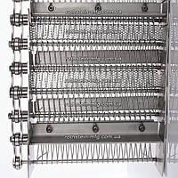 Тип 900. Транспортерная сетка с поперечными стержнями и перфорированными вставками.