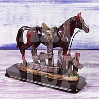 Статуэтка Конь коричневый, 15 см