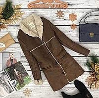 Трендовая куртка-дубленка из искусственной ткани  OW180270