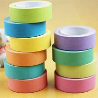 10м 5шт Созидательная красочная бумажная клейкая лента для DIY Цветной