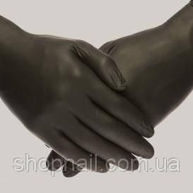 Перчатки нитриловые, черные, 100 штук в упаковке, размер М