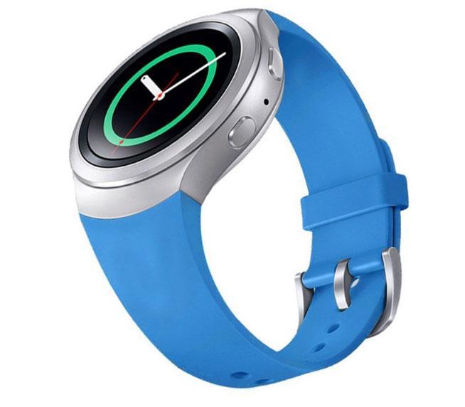 Силиконовый ремешок для Samsung Gear S2 Sports SM-R720 / SM-R73 - Blue