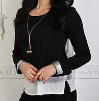 Блуза жіноча (віскоза/ креп-шифон), фото 1
