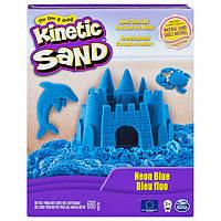 Кинетический песок для детского творчества kinetic sand color голубой 680 г