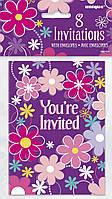 Набір паперових запрошень «Квітковий Рай» 8шт