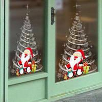 Рождественской елки стены стикеры Магазин Витрина украшения Белый