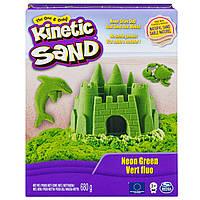 Кинетический песок для детского творчества kinetic sand color зеленый 680 г