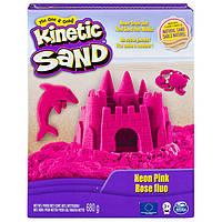 Кинетический песок для детского творчества kinetic sand color розовый 680 г