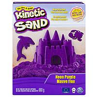Кинетический песок для детского творчества kinetic sand color фиолетовый 680 г