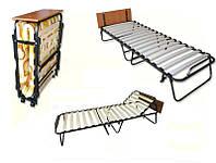 Раскладная кровать-тумба (раскладушка) на ламелях Оникс с регулируемым подголовником