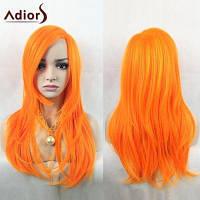 Парик с длинными прямыми волосами яркого цвета Оранжевый