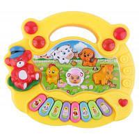 Детская развивающая игрушка-электронное пианино Жёлтый
