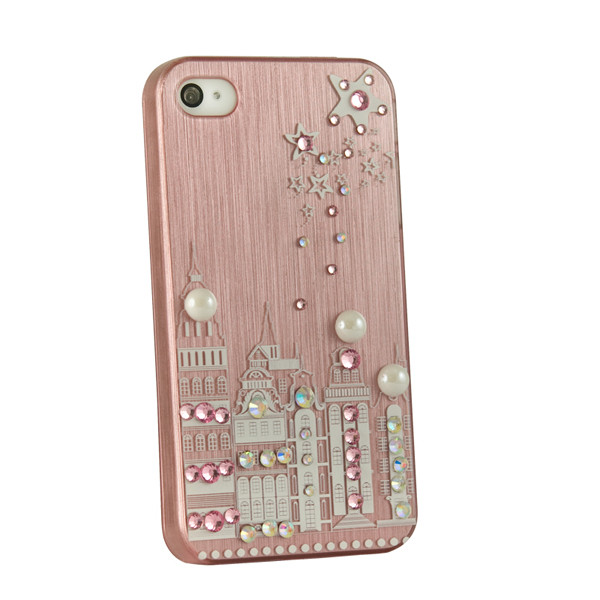 Чехол накладка для iPhone 4 Perfektum London Stars Pink