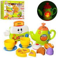 Набор бытовой техники, тостер, чайник, посуда, продукты, музыка, свет, 3155-NL