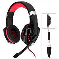 KOTION каждый G9000 3.5 мм USB игровой гарнитуры за ухо Headpones для ps4 Красный с чёрным