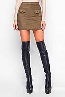 Юбка замшевая Клапан, (3цв), замшевая юбка, мини юбка, дропшиппинг, фото 1