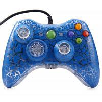 Стиль трещины проводной контроллер геймпад для ПК XBOX 360 Синий