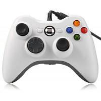 Контроллер проводной джойстик для Xbox 360 Белый