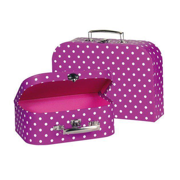 Игровой чемодан goki Фиолетовый в горошек 60106G
