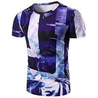Круглый шеи Статуя 3D печати шаблон с коротким рукавом футболки для мужчин L