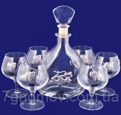 Набор 1 графин и 6 бокалов для коньяка в подарочной коробке Suggest арт. PB10257372