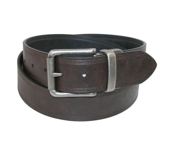 Ремень Levis Men's Reversible Bridle Belt with Antiqued Nickel Roller Buckle - Black/Brown